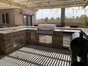 outdoor kitchen   AT Southern Design Co