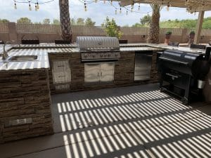 outdoor kitchen | AT Southern Design Co